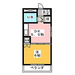 ラポール横割[4階]の間取り