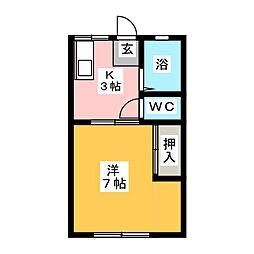 本田パナハイツ[1階]の間取り