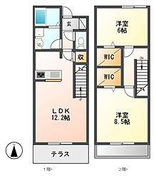 [テラスハウス] 愛知県名古屋市港区宝神4丁目 の賃貸【/】の間取り