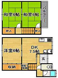 [一戸建] 大阪府大阪市東淀川区大桐5丁目 の賃貸【/】の間取り