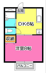 EXCEED西所沢[2階]の間取り