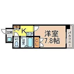愛知県名古屋市熱田区六番1の賃貸マンションの間取り