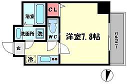TOYOTOMI STAT PREMIUM 梅田III 5階1Kの間取り