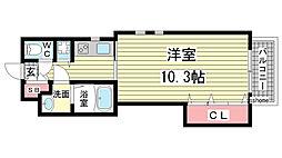 メトロポリタン[111号室]の間取り
