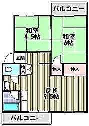 大阪府大阪狭山市狭山5丁目の賃貸マンションの間取り
