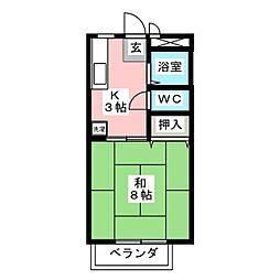 サンパーソン21 A棟[1階]の間取り