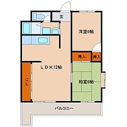 サンケイマンション第9ビル[601号室号室]の間取り