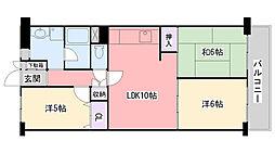 日商岩井香枦園マンション2号棟[810号室]の間取り