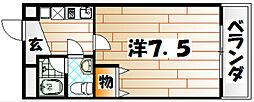 福岡県北九州市若松区ひびきの南2丁目の賃貸マンションの間取り