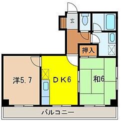埼玉県戸田市本町4丁目の賃貸マンションの間取り