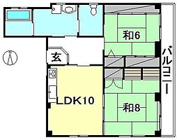 M・Cマンション[201 号室号室]の間取り