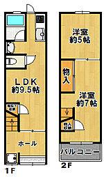 [一戸建] 大阪府大阪市大正区南恩加島4丁目 の賃貸【/】の間取り