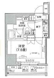 アイルイムーブル日本橋 6階1Kの間取り