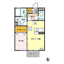 セラフィータ[2階]の間取り