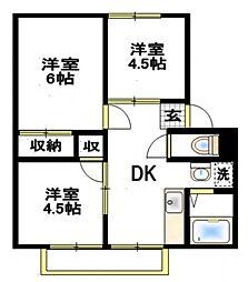 エステート5[1階]の間取り