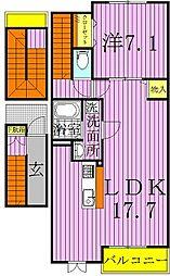 ヤマト.M[3階]の間取り