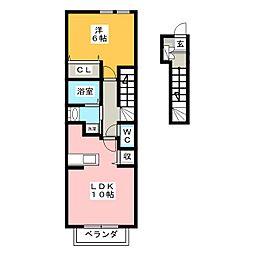 メゾンアルドーレ A棟[2階]の間取り