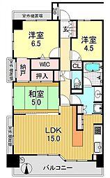 セレッソコートOSAKAステーションランド[8階]の間取り