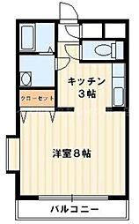 香川県高松市松福町2丁目の賃貸マンションの間取り