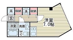 クロス神戸駅前ビル[302号室]の間取り