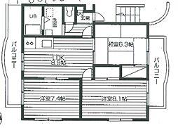 レジデンス・メープル[1階]の間取り