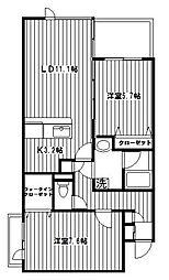 ドルフ南本宿[303号室]の間取り
