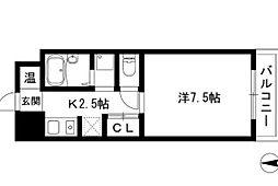 アドミール栄生[5階]の間取り