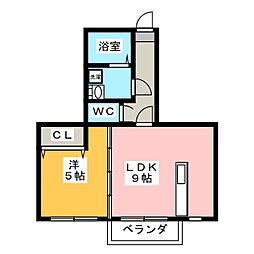 Wood久松 I[2階]の間取り