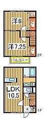 [テラスハウス] 千葉県我孫子市都部 の賃貸【千葉県 / 我孫子市】の間取り