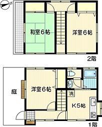[一戸建] 神奈川県川崎市幸区小向西町1丁目 の賃貸【/】の間取り