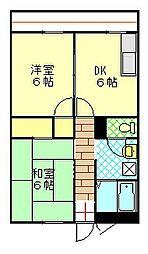 山田ビル[202号室]の間取り