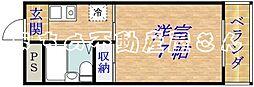 アクシオス野江ノース[3階]の間取り