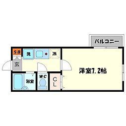アジュール千里山[1階]の間取り