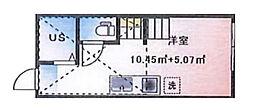 (仮称)ルームズ西早稲田B棟[202号室]の間取り