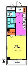 メゾン マロン(3F南西角)[3階]の間取り