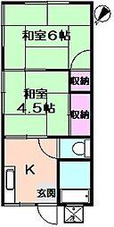 大浜6号荘[1階]の間取り