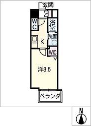 仮)千種区東山通一丁目プロジェクト 8階1SKの間取り