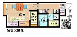 神奈川県綾瀬市早川城山1丁目の賃貸アパートの間取り