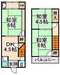 [一戸建] 兵庫県伊丹市御願塚2丁目 の賃貸【/】の間取り
