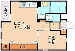 クレールアクシアI[3階]の間取り