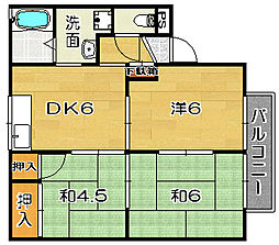 大阪府高槻市清福寺町の賃貸アパートの間取り