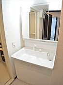 3面鏡付大型洗面台