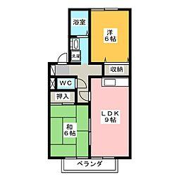 アリッサム21 B棟[2階]の間取り