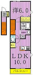 アルバシエロIV[2階]の間取り