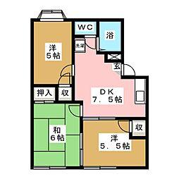 佐藤コーポ[1階]の間取り
