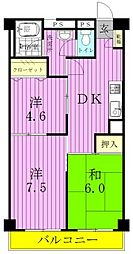 松戸コープ[4階]の間取り
