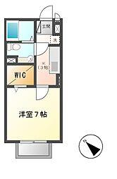 B−クレセント[1階]の間取り