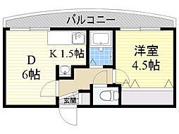 北海道札幌市中央区北7条西23丁目の賃貸マンションの間取り
