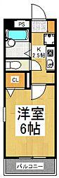 シャンブルド小川[4階]の間取り