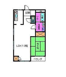 神奈川県相模原市中央区光が丘3丁目の賃貸マンションの間取り